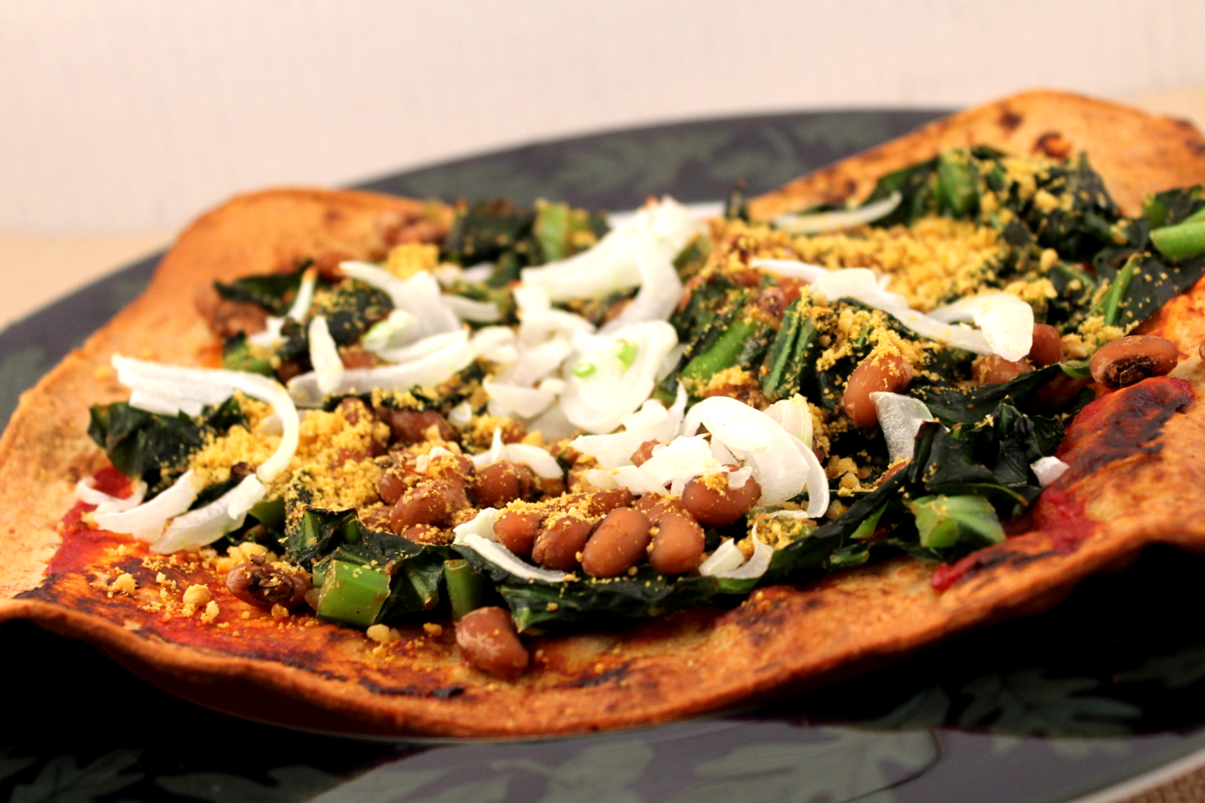 Black-Eyed Pea and Collard Green Pizza | Cooking and Recipes