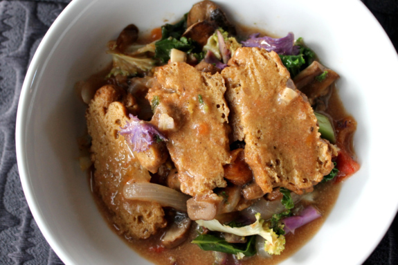 Post image for Vote for me (please)! So Delicious Recipe Contest: Cinnamon-Ginger Seitan and Veggies in Coconut Gravy