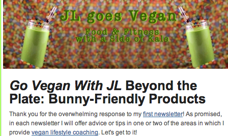 Post image for Vegan tips & tricks, encouragement and advice delivered to your inbox! {Vegan MoFo #4}