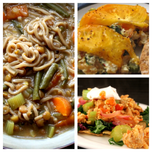 Post image for Saturday Meal Plan: Veggie Breakfast Casserole, Chik'n Lentil Noodle Soup and Tempeh Tostadas