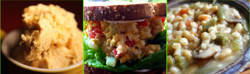 Post image for Saturday Meal Plan:  Breakfast Ice Cream, Chickpea Salad Sandwich, and Bean and Barley Stew