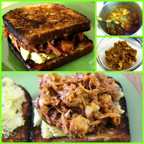 Post image for Pigs are friends, not food. Eat this BBQ Pulled Jackfruit Sandwich.