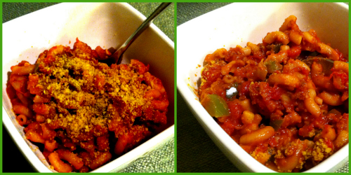 Post image for Seitan & Macaroni Goulash (I dehydrated seitan crumbles!)