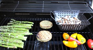 Grilled Summer Salad and Creamy Apricot Dressing | Sunshien Burgers | JL goes Vegan | first on grill