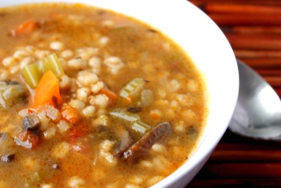Post image for Portobello Mushroom & Barley Soup