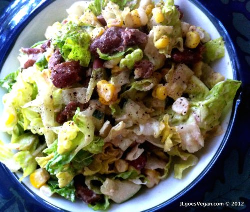 Post image for Chopped Salad with Cashew Chipotle Dressing