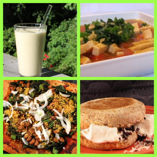 Post image for Saturday Meal Plan: Avocado Smoothie, Pumpkin Soup, Black-Eyed Pea Pizza, and Marshmallow Sandwich