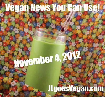 Post image for Slowing down in November + Vegan news you can use (11/4/12)
