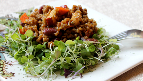 Post image for Wheat Berry and Red Bean Salad recipe